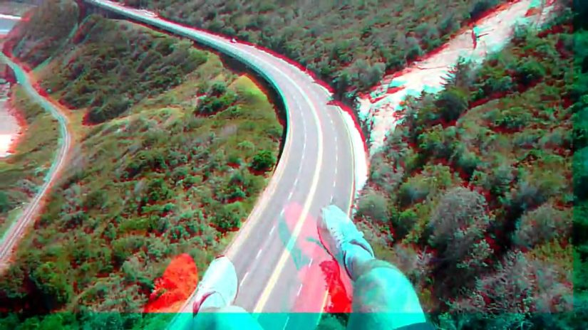 A few Paragliding Flights in true 3d requires red blue glasses