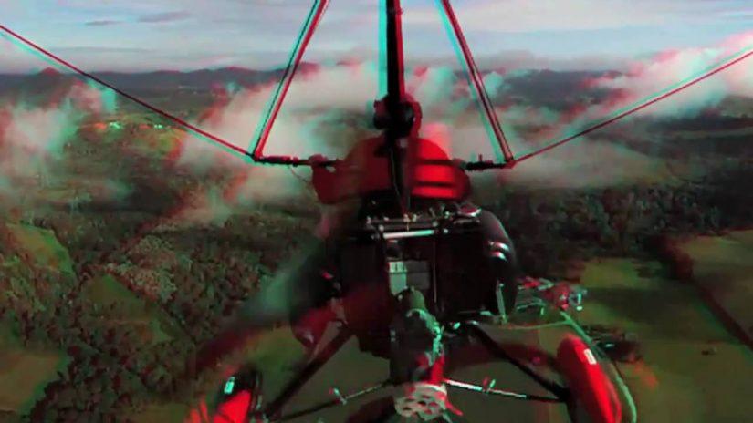 HD 3D Gyroscopic Ultralight Flight anaglyph video