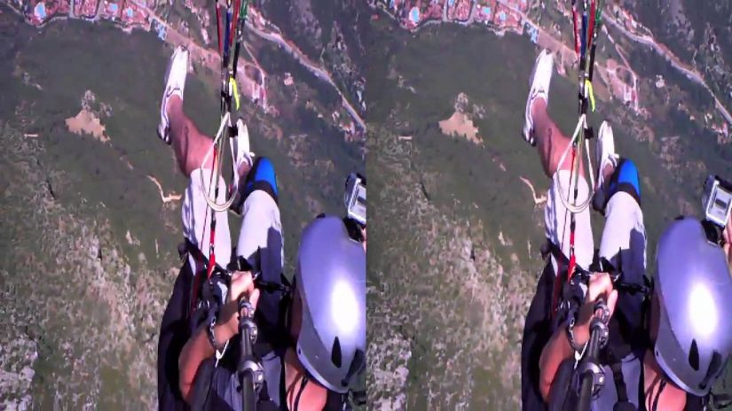3d paragliding at lDeniz Turkey