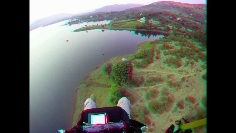 Paragliding at Kamshet in India 3D