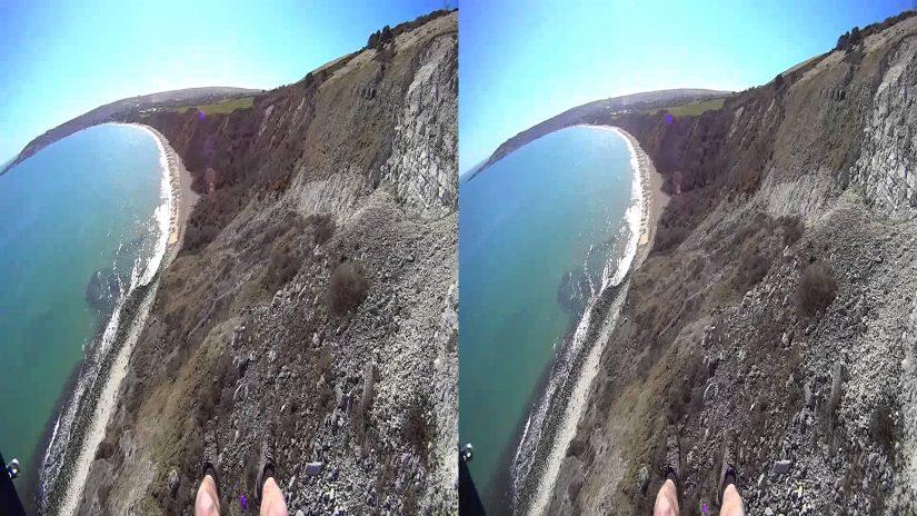 3D paraglide Ballard Down Dorset