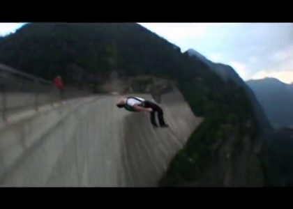 Extreme BASE jumping in Switzerland Scott Paterson Aussie