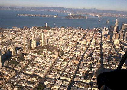 vol Chopper sur San Francisco