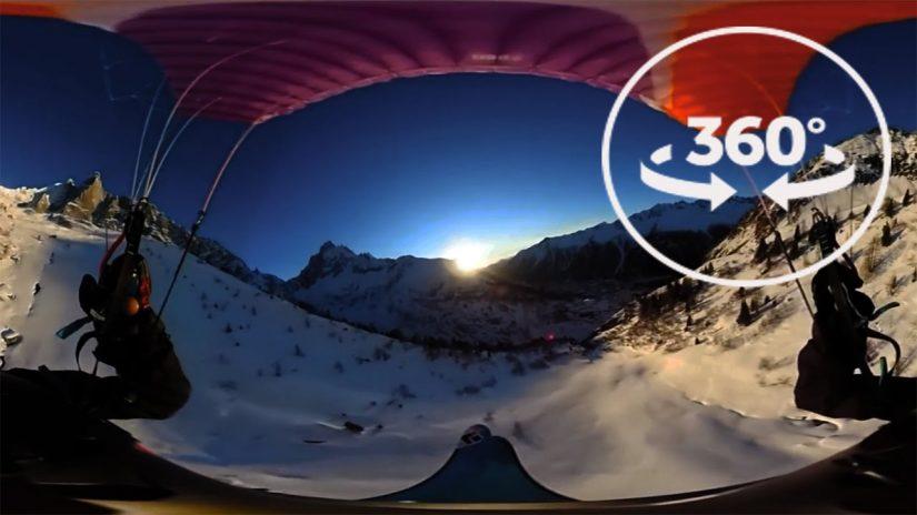 SpeedFlying in Chamonix VR 360 Video