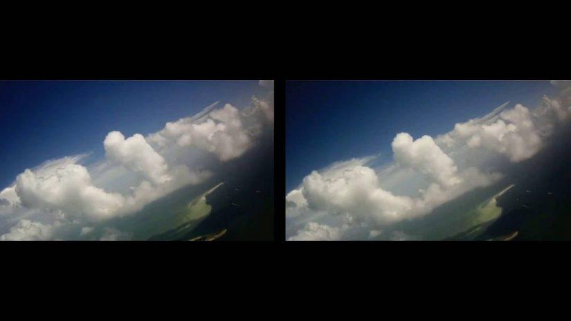 Venez voler autour des nuages Format SBS 3D Google Cardboard ou VR