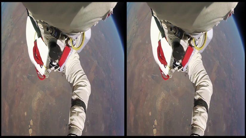 Vrin realtà virtuale dello spazio di volo di salto 3D SBS Google Cardboard