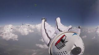 Wingsuit flight 360 Feel the skydive thrill with Russian birdmen setting national record