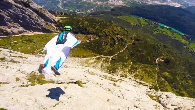 Paganella Wingsuit BASE Wes Burrows amp Anton Squeezer