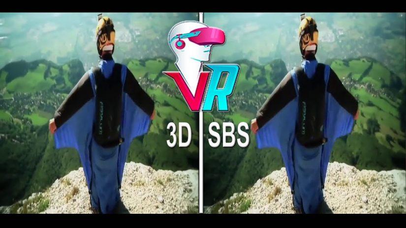 3D Wingsuit Proximité vol 3D SBS Saut BASE VR Box