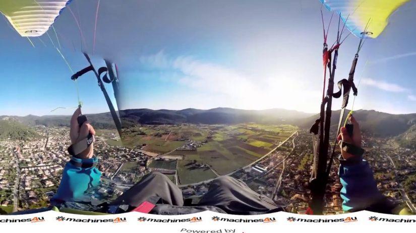Paragliding 3D 360 panocam3d com