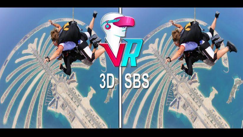 3D Vertigo saute dans les gratte-ciel de Dubaï 3D SBS VR Box