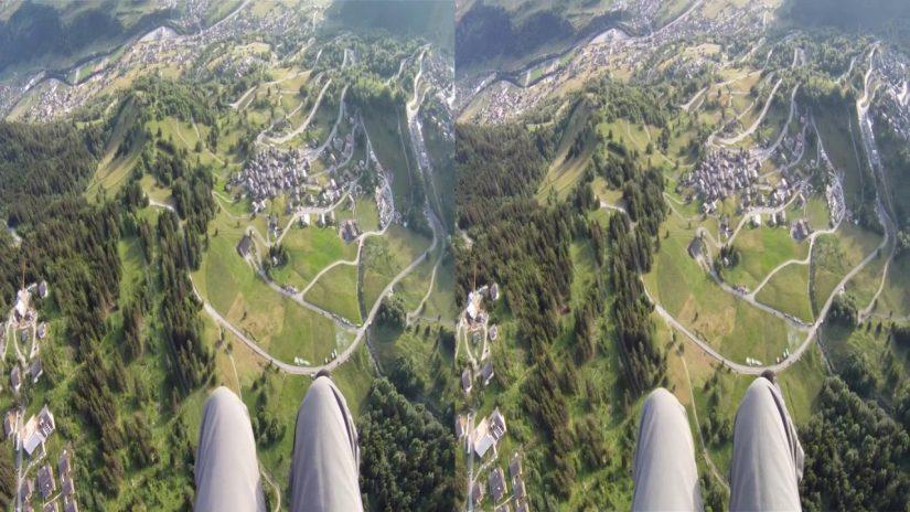 3D parapendio Alpi Mt