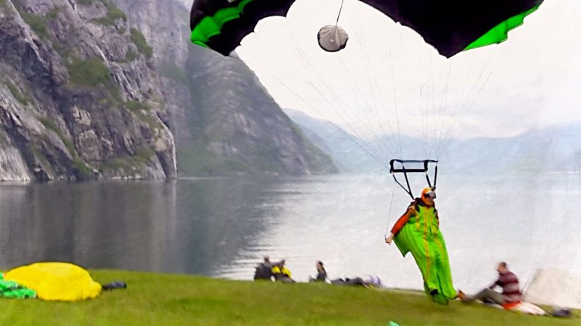 Gray Days In Norway BASE Wingsuit Tracking