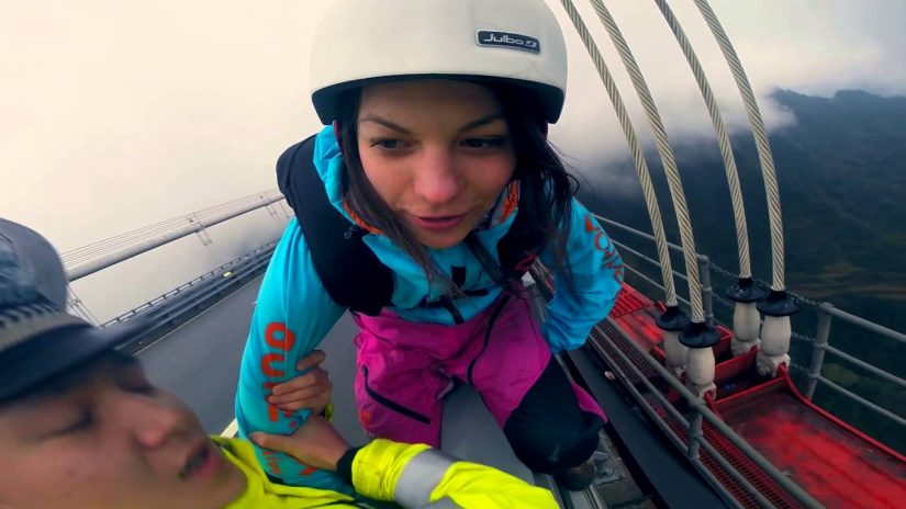 Zero Fox Given Police Grab BASE Jumper But She Jumps Anyways