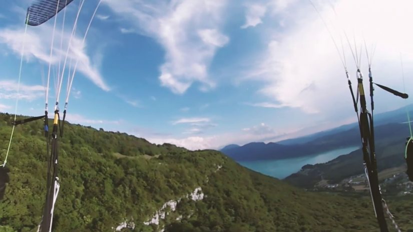 Film VR 360 vol en parapente paragliding