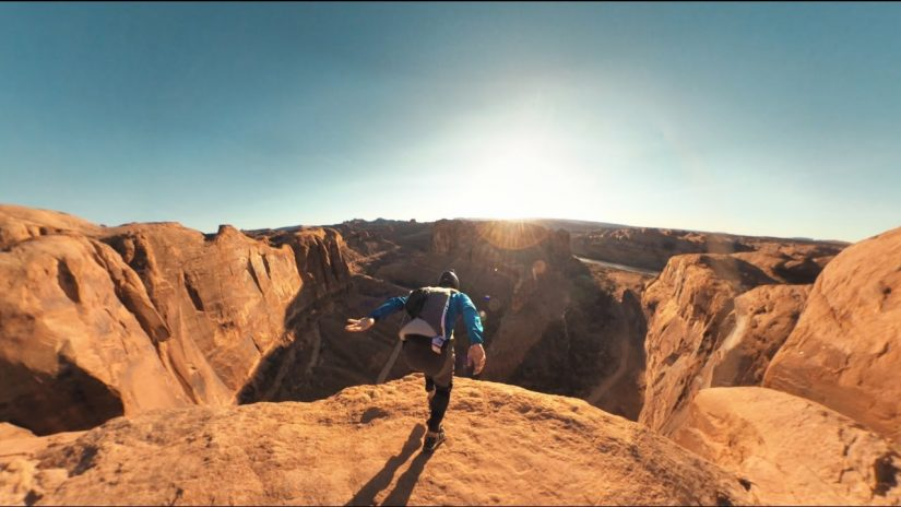 Garmin VIRB 360 Base Jumping vicino a Moab