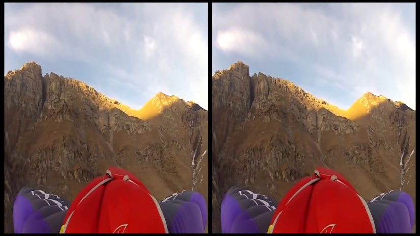 VRin Virtual Reality Wingsuit Flying 1 3D SBS google cardboard