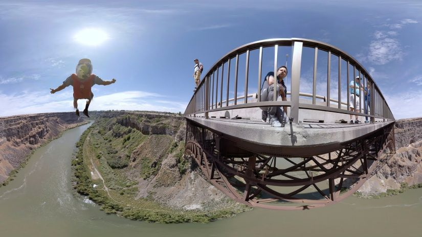 360 Video INSANE BASE Jumping at the Perrine bridge