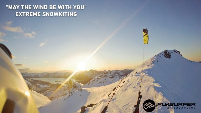 Extreme Snowkiting ... MAY THE WIND BE WITH YOU