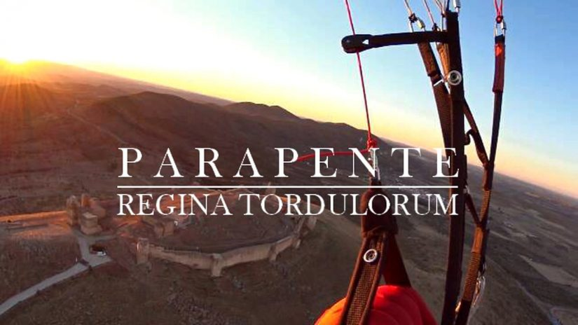Paragliding in Reina province of Badajoz Extremadura Spain
