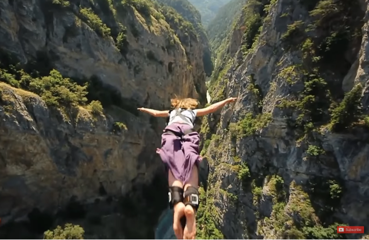 10 MOST DANGEROUS JUMPS ON A ROPE -=BUNGEE JUMPING=-