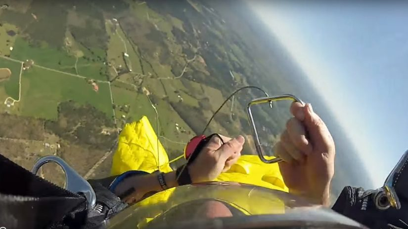 Friday Freakout Messy Wingsuit Cutaway amp Head Down Reserve Parachute Opening