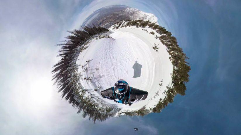GoPro OverCapture POV Nähe Wingsuit mit Marshall Miller