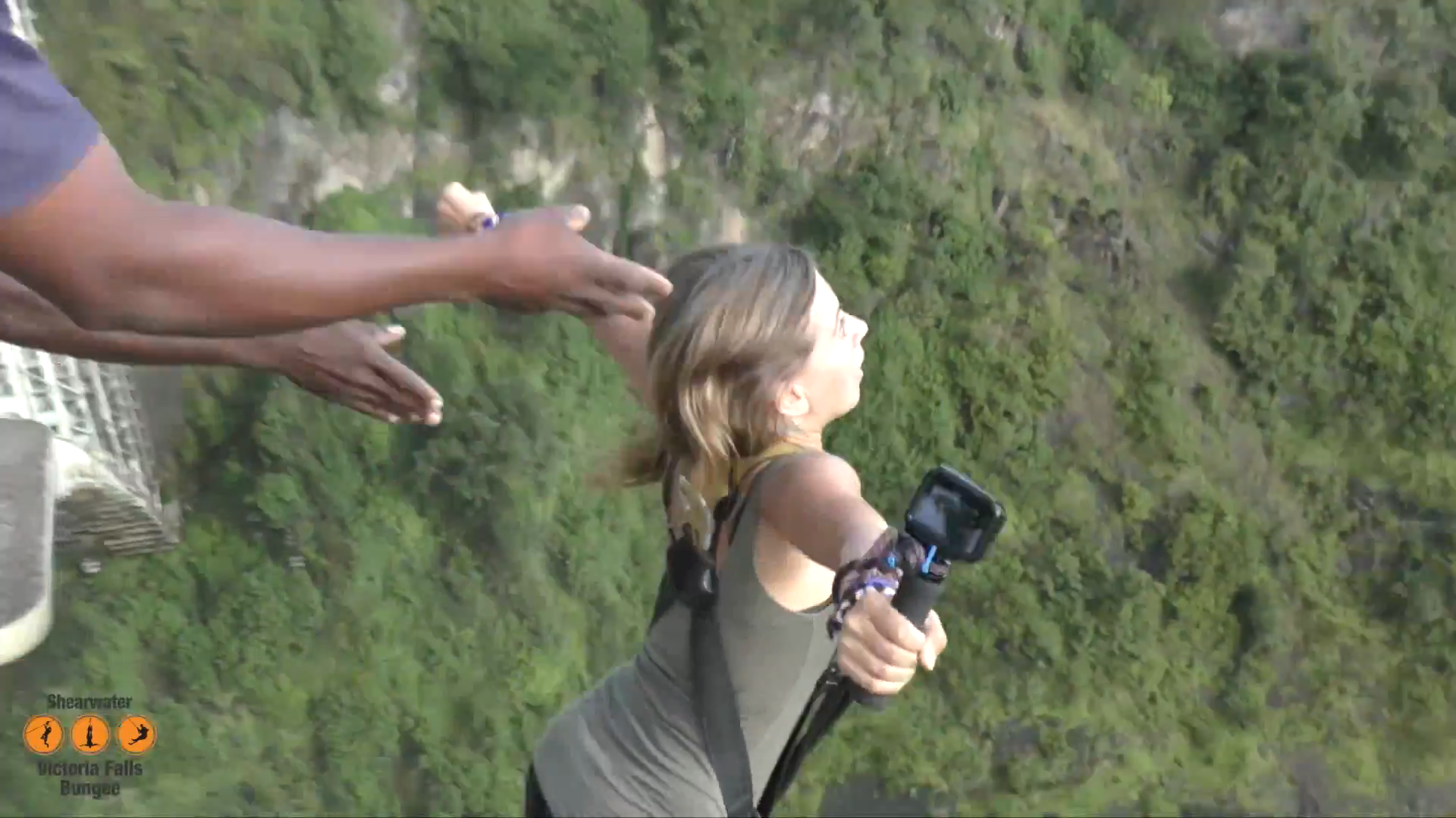 Bungee Jumping from the Bridge of Victoria Falls