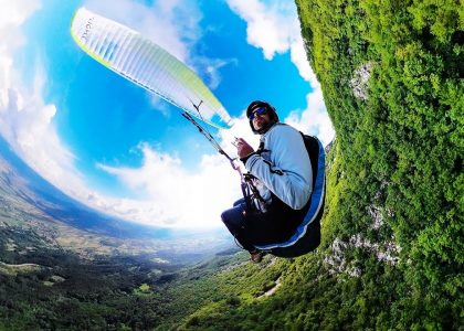 GoPro Fusion first try paragliding