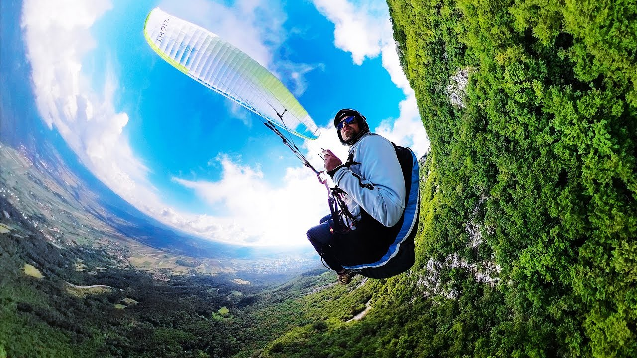 First attempt to Record the Paragliding Flight