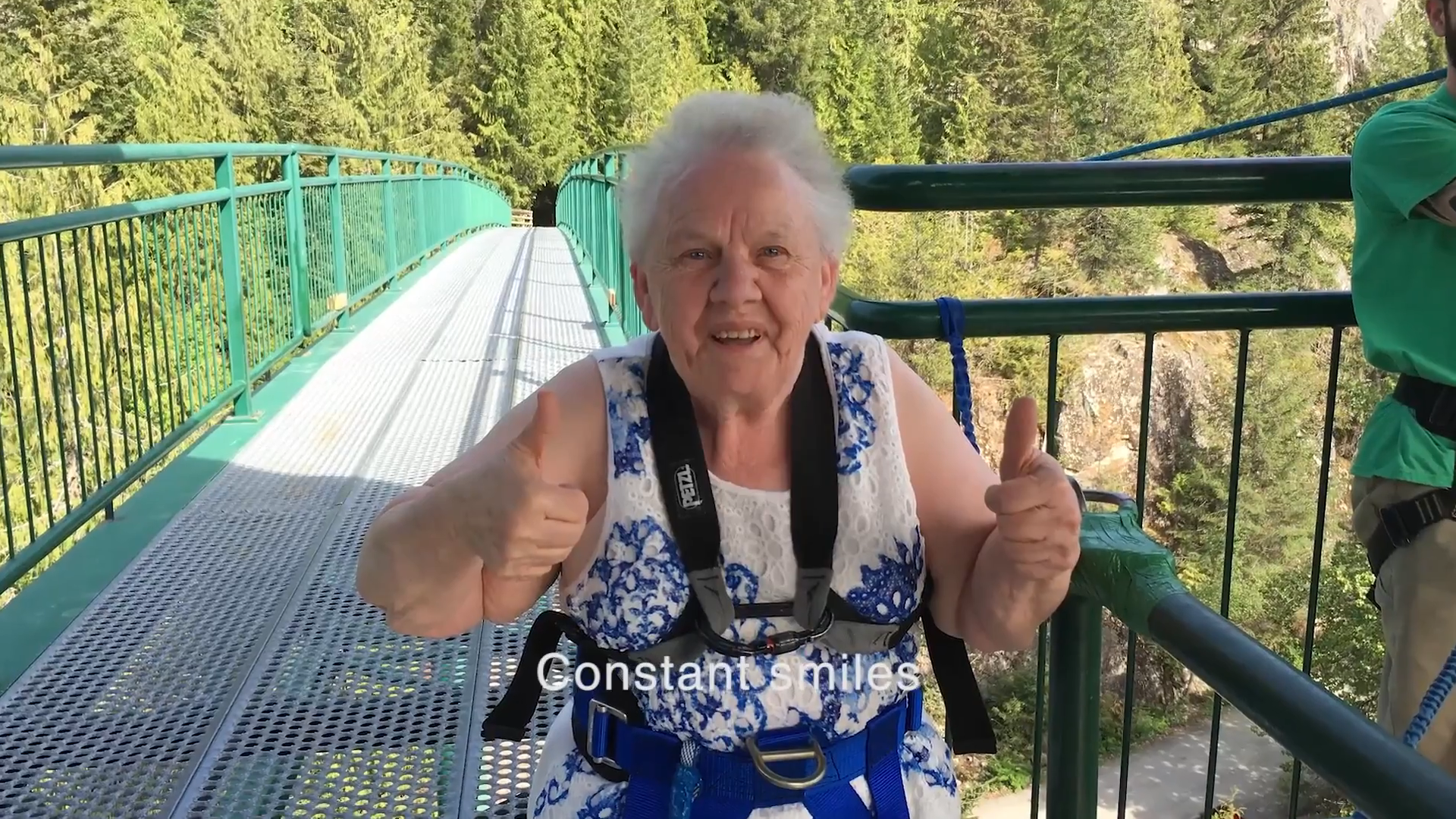 71 Year Old Grandma First time Bungee Jumping!