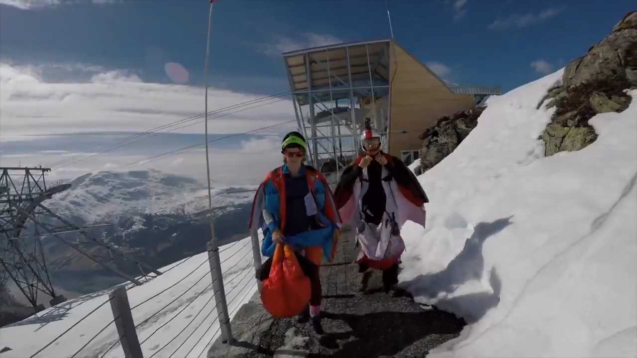Wingsuit BASE jumping First Camp at Loen, Norway