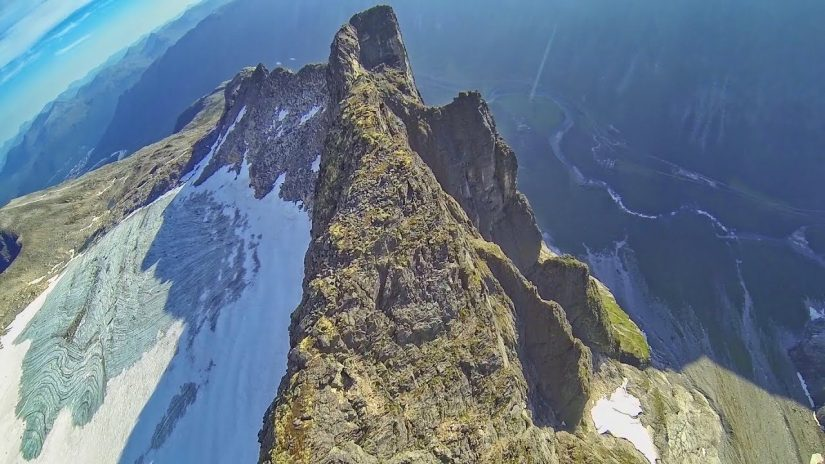 RAW Wingsuit Flight Norway ridge surfing
